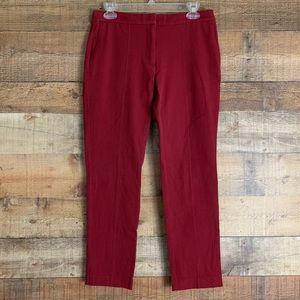 J. Jill The Quinn Pant crop cranberry red Size 6